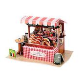 《4D手作紙雕》法國-咖啡麵包攤
