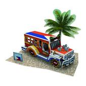 《4D手作紙雕》東南亞風情-菲律賓-吉普車