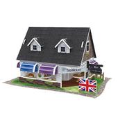 《4D手作紙雕》英國-(紅茶館)