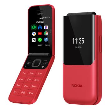 諾基亞 Nokia 2720 Flip 2.8吋螢幕翻蓋4G手機(紅色)