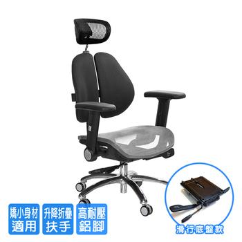 《GXG》GXG 高雙背網座 工學椅 (鋁腳/摺疊升降扶手)  TW-2806 LUA1(七色可選)