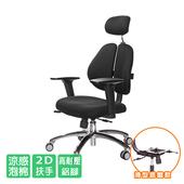 《GXG》人體工學 雙背椅 (鋁腳/2D升降扶手)TW-2994 LUA2(請備註顏色)