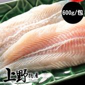 《上野物產》【上野物產】特選巴沙魚排 (600g土5%/包)(4包)