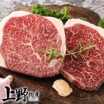 《上野物產》【上野物產】日本和牛A5等級頂級菲力牛排 (100g土10%/片)(4片)上野物產單筆滿$999送宜蘭薄鹽鯖魚(90g±10%)*2片
