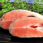 《上野物產》嚴選阿拉斯加秋鮭 (100g土10%/片)(20片)買就送:鮮脆刻花魷魚 (250g±10%) *1包