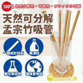 《OZAWA 大澤》天然可分解孟宗竹吸管(附清潔細刷,共6件組)(2包)