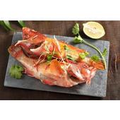 《上野物產》菲律賓紅石斑 (250g土10%/隻)(5隻)買就送:鮮脆刻花魷魚 (250g±10%) *1包