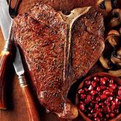 《上野物產》澳洲頂級丁骨牛排 (280g土10%/片)(3片)上野物產單筆滿$999送宜蘭薄鹽鯖魚(90g±10%)*2片