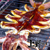 《上野物產》鮮嫩烤魷魚串 (120g土10%/隻)(8隻)