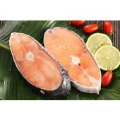 《上野物產》智利鮮嫩鮭魚小切片 (100g土10%/片)(20片)買就送:鮮脆刻花魷魚 (250g±10%) *1包