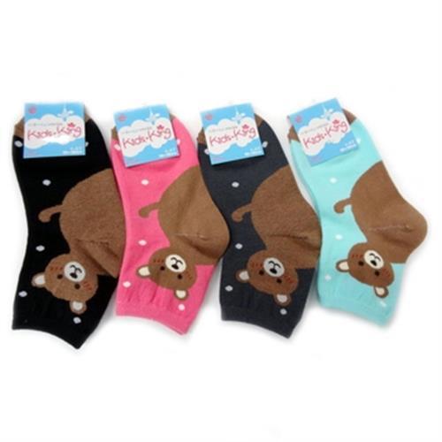 《MIT》兒童腳跟造型襪4-8歲(熊顏色隨機出貨)