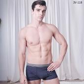 舒綿條紋平口褲(M顏色隨機出貨)