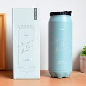 《304不鏽鋼》造型款保溫杯(米 500ml)