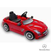 《BENZ賓士》全台獨家 充電式 SLS AMG 6V 電動兒童乘座車-賓士(原車縮小比例)(紅色)