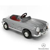 《BENZ賓士》全台獨家 充電式 300SL 電動兒童乘座車-賓士(原車縮小比例)(銀色)