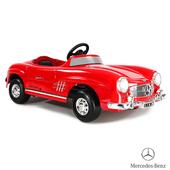 《BENZ賓士》全台獨家 充電式 300SL 6V 電動兒童乘座車-賓士 紅色(原車縮小比例)(電動兒童乘座車)