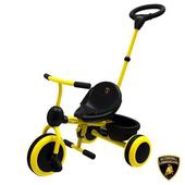 《Lamborghini藍寶堅尼》全台獨家 兒童三輪車 腳踏車手推車 幼童手推腳踏三輪車(兒童三輪車)