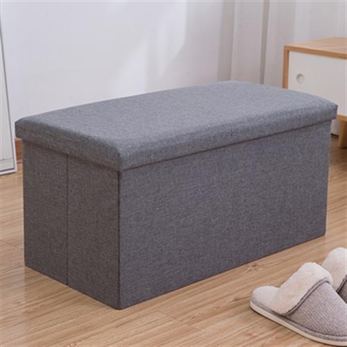 長方形儲物凳 顏色隨機出貨(76X38X38cm)