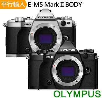 《OLYMPUS》E-M5 Mark II 單機身Body(中文平輸)-送單眼相機包+大清+硬式保護貼(黑色)