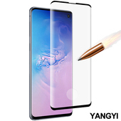 《YANGYI揚邑》Samsung Galaxy S10 滿版鋼化玻璃膜3D曲面指紋解鎖防爆抗刮保護貼(Samsung Galaxy S10)
