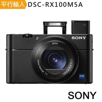 《SONY》DSC-RX100M5A 數位相機 (中文平輸)-SD64G-C10 記憶卡+專屬鋰電池+專屬座充+大吹球+細毛刷+拭鏡布+清潔(RX100M5A)