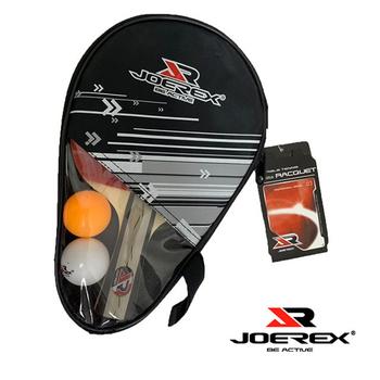 《JOEREX》《JOEREX》三星長柄雙反膠乒乓拍/桌球拍套裝-JTB301B