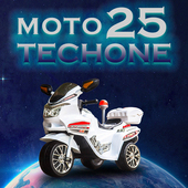 《TECHONE》TECHONE MOTO25兒童電動警車單驅三輪摩托車(珍珠白)