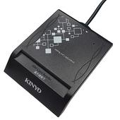 《KINYO》ATM晶片讀卡機-黑 KCR370(台)