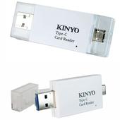 《KINYO》三合一(Type C/USB2.0/OTG)兩插槽讀卡機 KCR500(台)