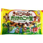 《明治》香菇竹筍造型餅乾家庭號-巧克力(138g/袋)