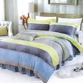《【Victoria】》新科技天絲抗菌吸濕排汗五件式雙人加大床罩組-簡約(6x6.2尺)