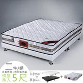 《Homelike》席拉二線3M防潑水獨立筒床組-雙人5尺(二色)(質感黑)