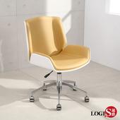 LOGIS|皮革主管椅  電腦椅 事務椅 工作椅 電視劇 辦公坐椅 書房和室 駝黃色皮白背【WA50】(駝黃色皮白背)