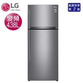 《LG樂金》438公升直驅變頻上下門雙門冰箱-星辰銀GI-HL450SV(含拆箱定位)