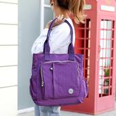 《ZHUOKU卓酷》大容量手提包 35*35*16cm(葡萄紫)