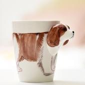 立體狗狗馬克杯  尺寸:9.8*11.2CM/容量:400ml(款式隨機)