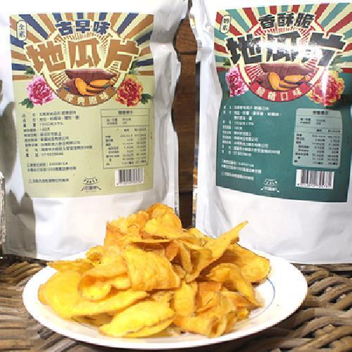 《瓦厝家》古早味地瓜片-150g/包(脆糖口味)