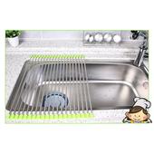 《不銹鋼》折疊水槽碗碟架(40X37cm)