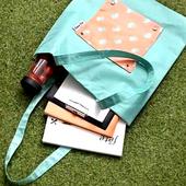 可折疊加厚防水購物袋(綠企鵝 34X47cm)