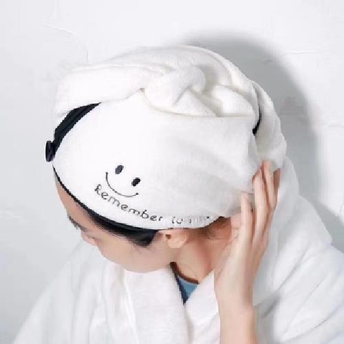 瞬間吸乾加厚珊瑚絨乾髮帽(粉 25X65cm)