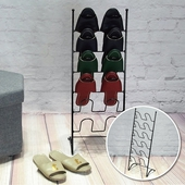 六層拱型12入鞋插架(28X19X75cm)