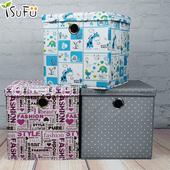 可摺疊收納盒2入組(摩登塗鴉 30X30X30cm)