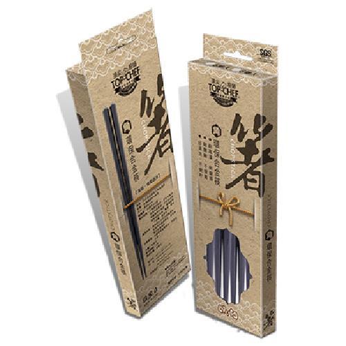環保六角合金筷六雙入(23cm)