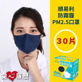 《順易利》MIT 防霾PM2.5口罩 x2盒 (30入/盒)(任選請備註數量及尺寸)
