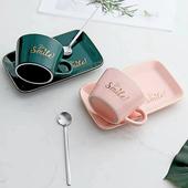 字母咖啡杯組-250ml(綠)