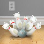 《美國 Fred》Bowling Alley Cats 老鼠碰碰貓保齡球桌遊