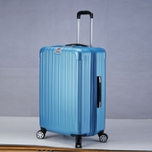 拉絲紋可加大行李箱20吋(冰藍)