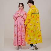 《親子豆腐熊》可愛前開式雨衣3XL(俏皮黃)