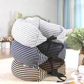 旅行連帽U型枕70X15cm淺灰 $179