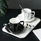 咖啡杯組 顏色隨機出貨(菱形 240ml)